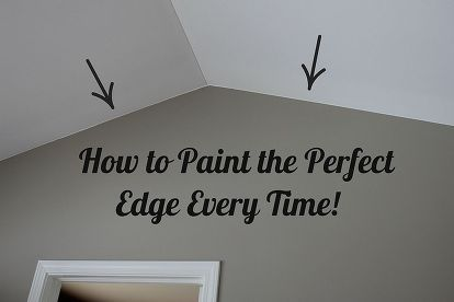 How To Paint The Perfect Edge Without Painters Tape Painters Tape Painting Tips Painting Edges