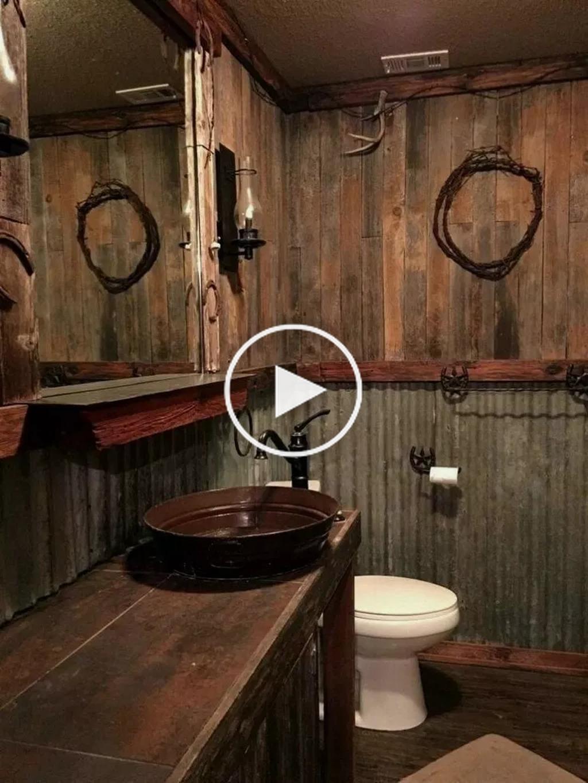 31 Atemberaubende Rustikale Bauernhaus Badezimmer Dekor Ideen