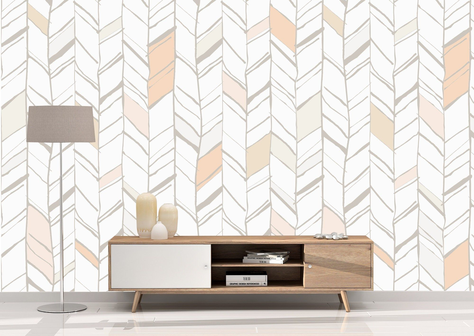 Removable Peel And Stick Wallpaper Peach Herringbone Coral Etsy Herringbone Wallpaper Peel And Stick Wallpaper Vinyl Wallpaper