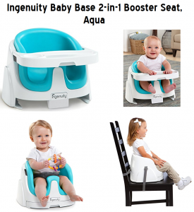 Ingenuity Baby Base 2 In 1 Booster Seat In Aqua Of 2020 From Baby On Floor And Feeding High Chairs Booster Seat On Table In 2020 Booster Seat Baby Booster Seat High Chair