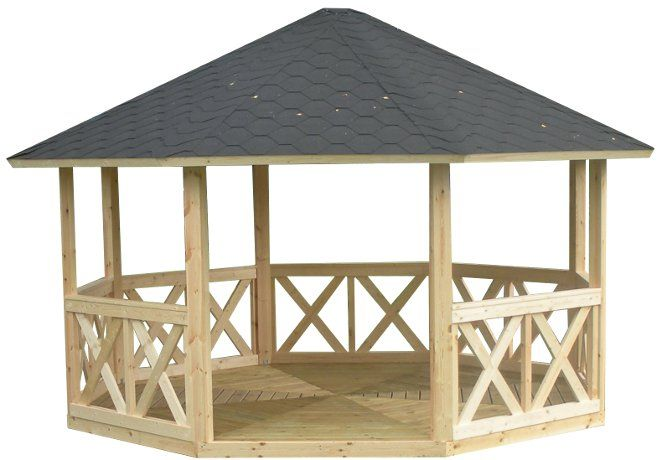 kiosque de jardin en bois de 14 m2 outils de jardin. Black Bedroom Furniture Sets. Home Design Ideas