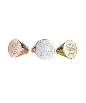 Sarah Chloe Signet Ring, $98, #dailyfinds