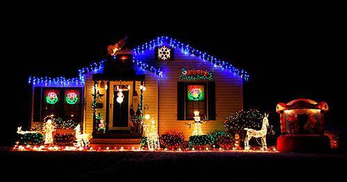 Ornamenti natale illuminazione per esterno multicolor
