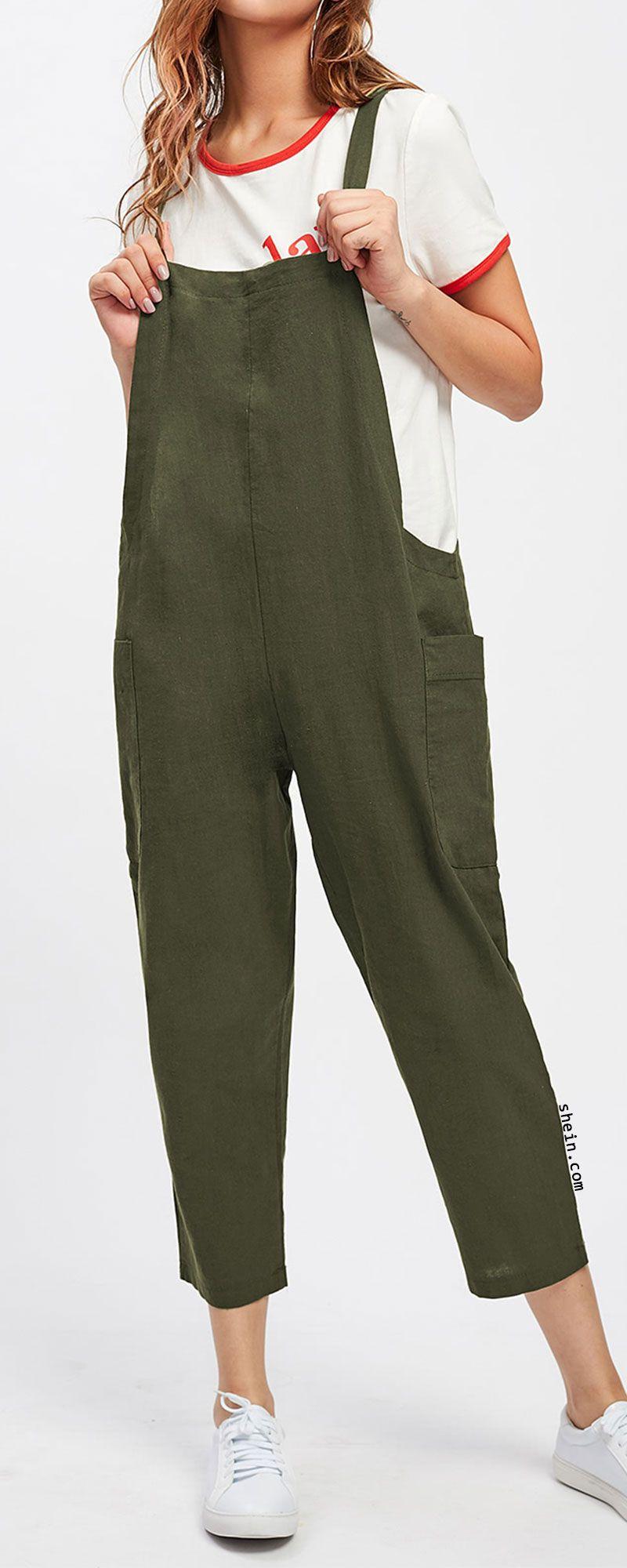 Pocket Side Overall Pants  51d616dc8095e