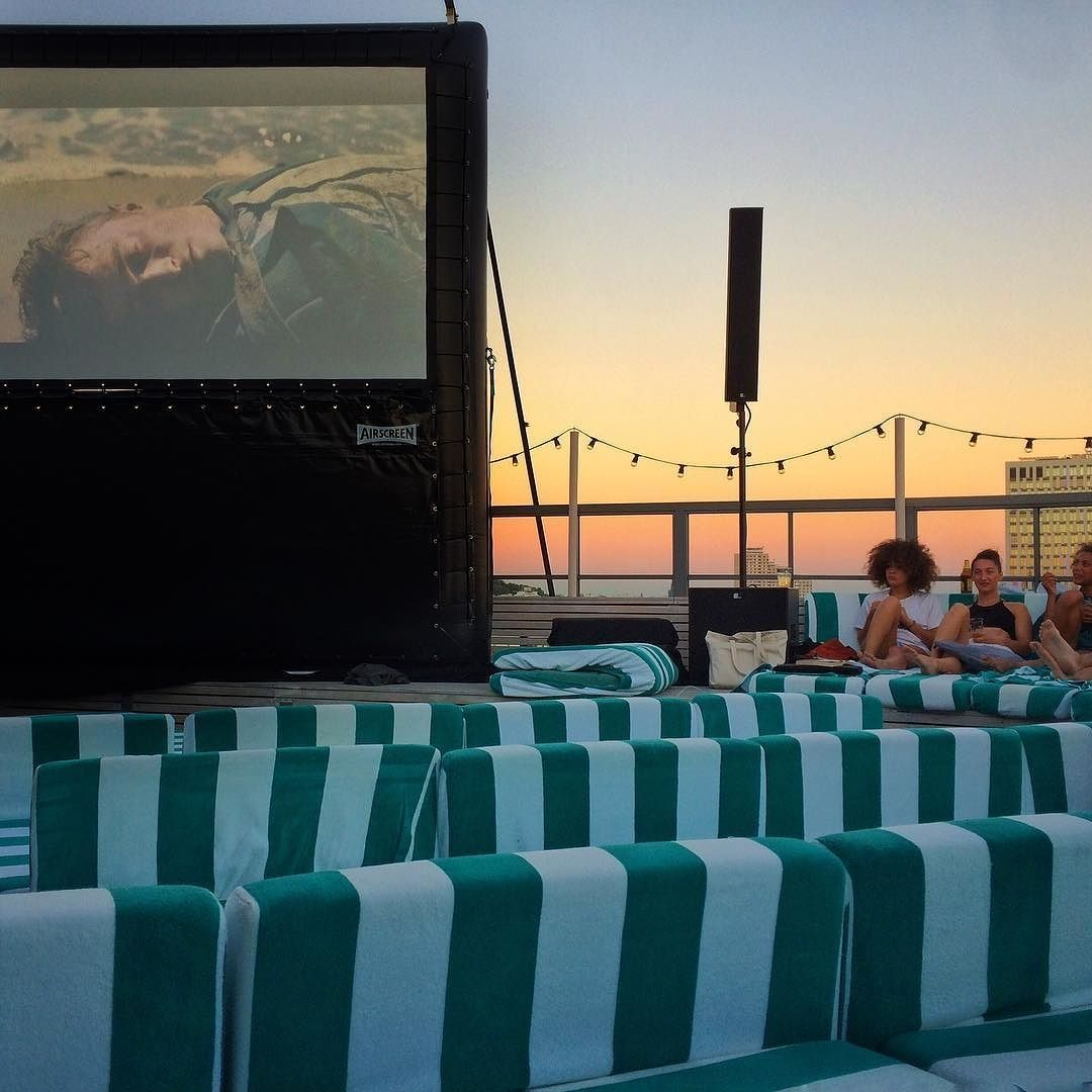 Tonight's rooftop cinema  showing the Swiss Army Man two months prior to its release - Soho House  Follow: @redvelvetrope -  @sohohouseberlin - Have you been to this event? - Tag #redvelvetrope to be featured -  #luxuryhotel  #wishiwasthere