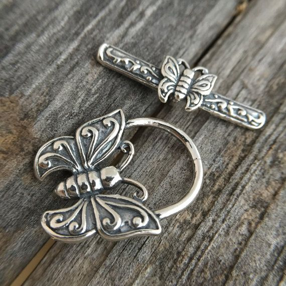 Sterling Silver Butterfly Toggle Clasp Sterling Silver ...