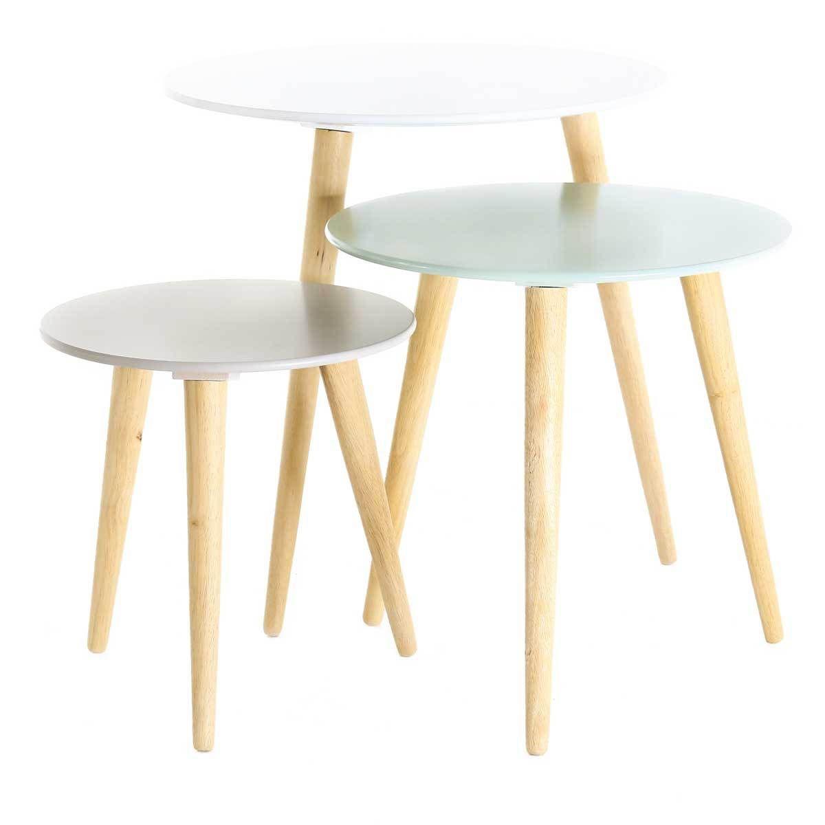 table basse gigogne style scandinave. Black Bedroom Furniture Sets. Home Design Ideas