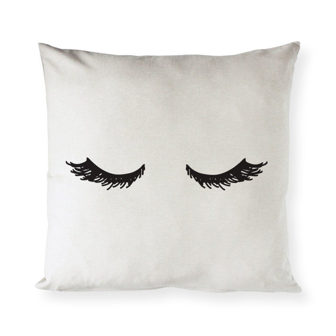 Mascara closed eyelashes pillow cover pillow fashion onthemove