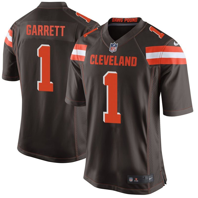 9c003cdd5c6 Myles Garrett Cleveland Browns Nike Youth 2017 Draft Pick Game Jersey -  Brown