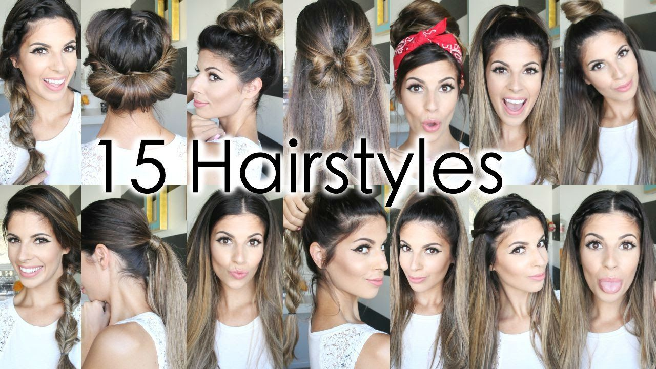 Hair Styles For Short Hair For School: 15 Back To School Heatless Hairstyles