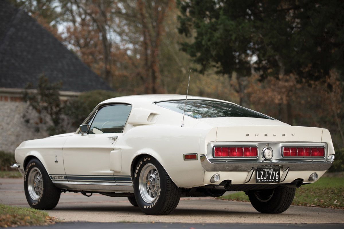 This 1968 shelby gt500 fastback dials up the cool