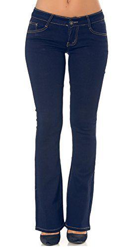 fdcc33cb724c5 Simply Chic Jeans femme bootcut stretch coupe évasée pantalon denim bleu  brut taille 38