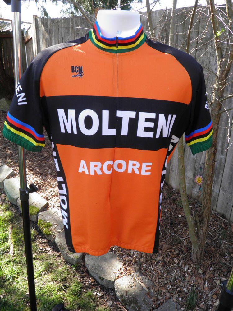 Molteni Arcore Retro Vintage Short Sleeve Cycling Jersey Large (Eddy Merckx) b963a570d