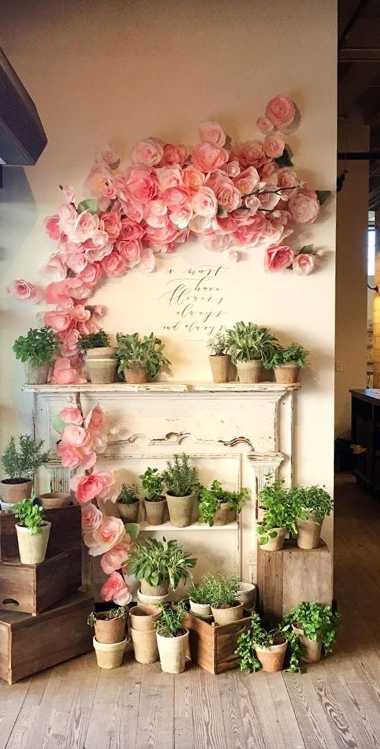 Paper Flower Wall At Magnolia Market Mom Cavediva Den Decor