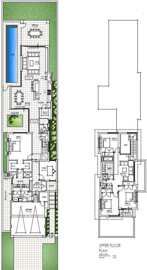 First Narrow Two Storey Design Floor Plans Narrow House Designs Narrow Lot House Plans Narrow House Plans
