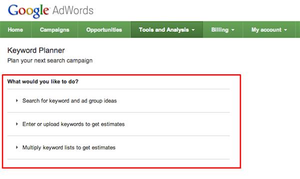Bye Google Adwords Keyword Tool And Welcome Keyword Planner Tool Keyword Planner Internet Marketing