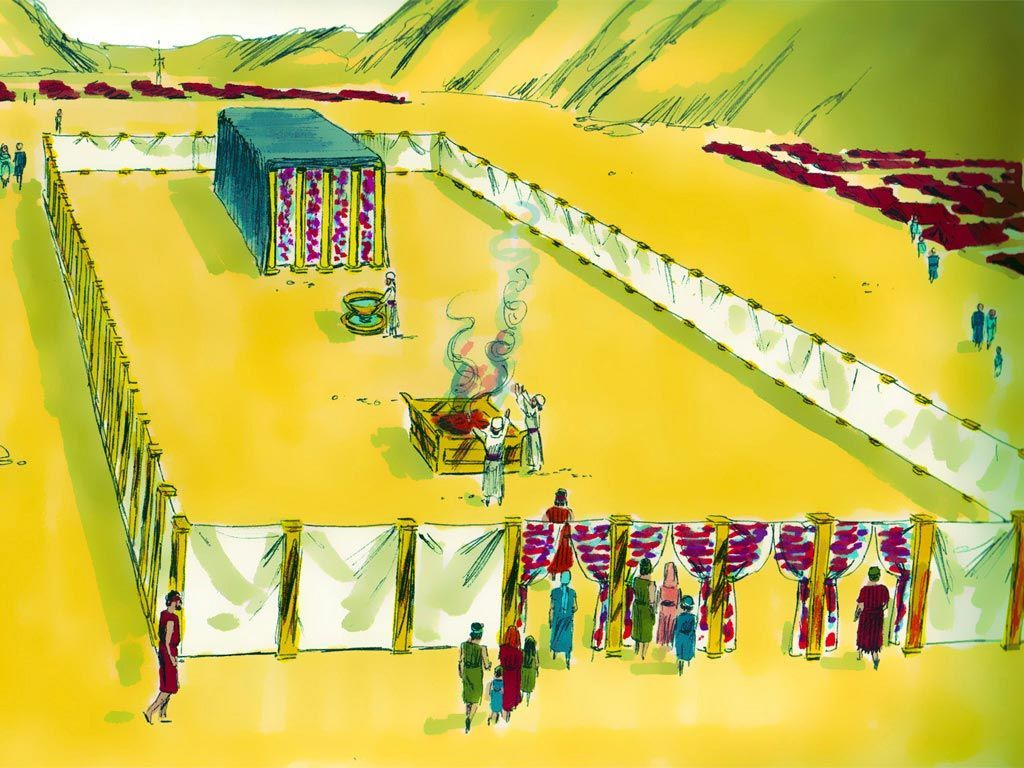 The Tabernacle Of Moses Curtains The Entrance Of The Tabernacle Was Always To Be Pitched