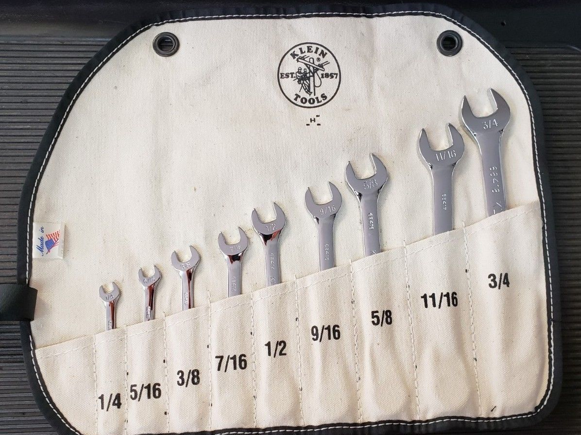 Klein tools 68402 9piece combination wrench set 14 to 3