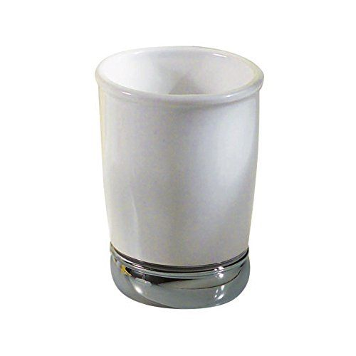 InterDesign White York Tumbler Cup for Bathroom Vanity