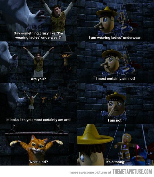 Pinocchio Is A Bad Liar Shrek Funny Movies Movie Quotes
