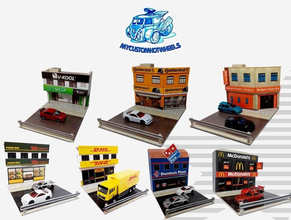 1 64 Diorama Buildings Shops Stores For Hot Wheels 1 64 Scale Diecast Cars Hot Wheels Diecast Cars Diorama