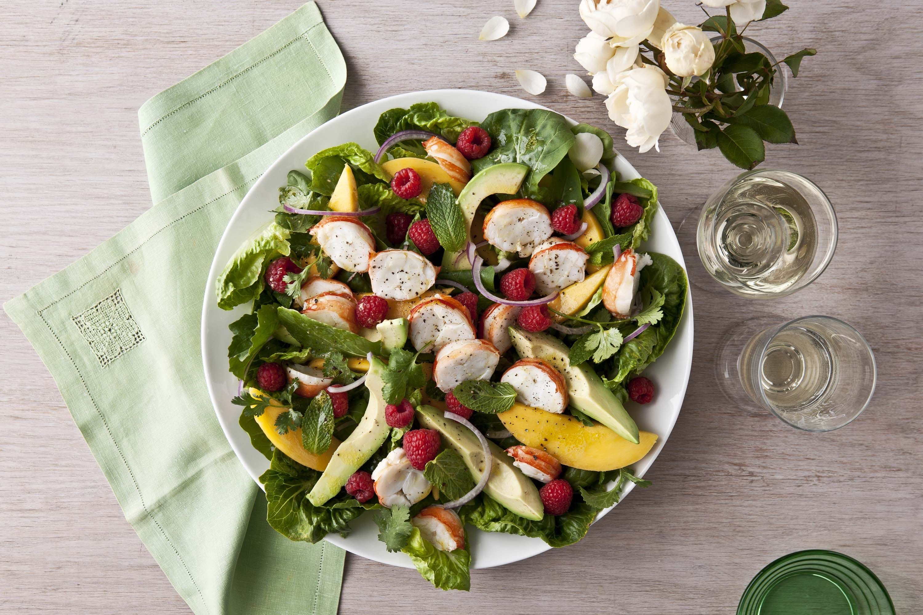 This delightful lobster and summer fruit salad recipe is proudly brought to you by taste.com.au and Houghton Wine. Pair this dish with Houghton Chardonnay.