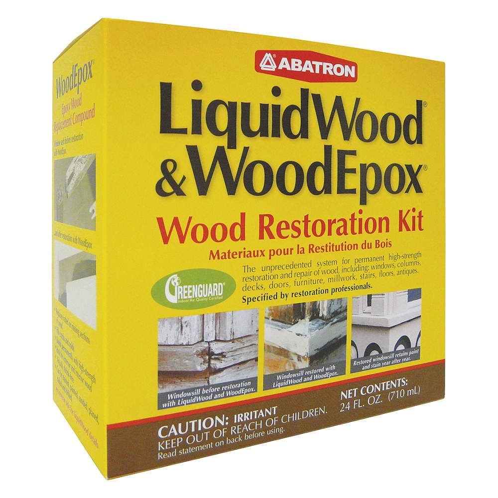 24 oz. Wood Repair Kit with Temp. Range of 50° to 100°F, White/Clear ...