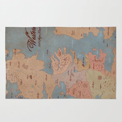 Westeros Game Of Thrones Map Area Amp Throw Rug Uhhhhhh