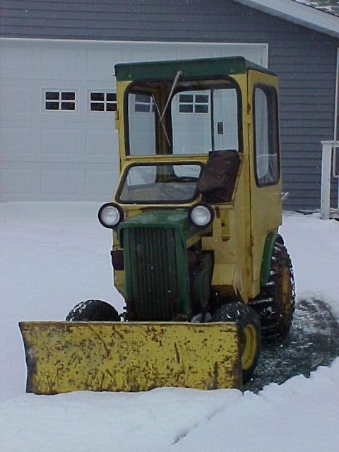 JD 110 earning it's keep   the cozy cabs made a world of