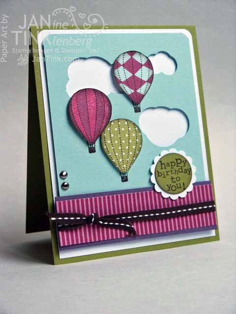Greeting Card Birthday Beauteous Balloons by JanTink on Etsy, $4.95