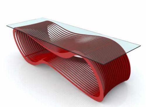 Moderne attraktive Couchtische fürs Wohnzimmer u2013 50 coole Bilder - wohnzimmer design rot