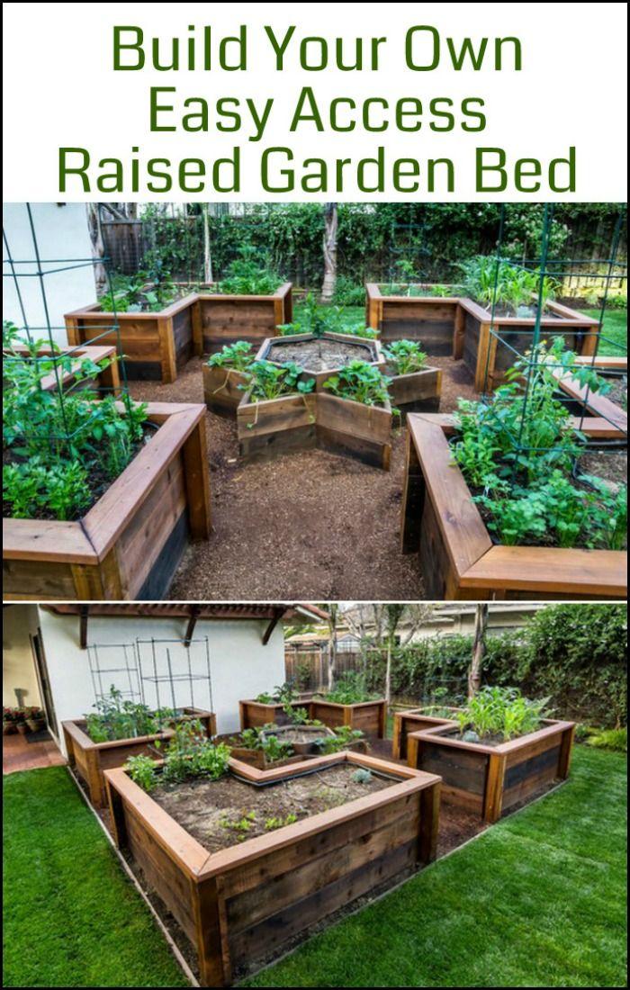 Build An Easy Access Raised Garden Bed Diy Raised Garden 400 x 300