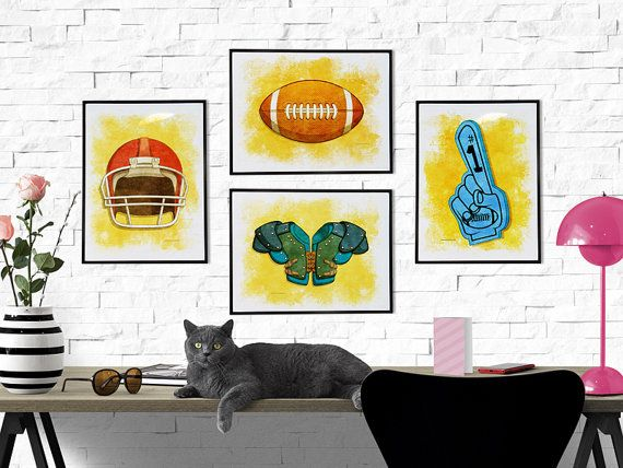 American Football Sports Print Poster Wall art decor download ...