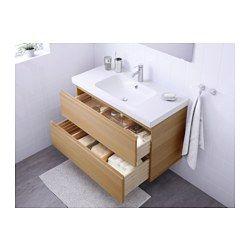 ikea godmorgon odensvik meuble lavabo 2tir effet ch ne blanchi garantie 10 ans gratuite. Black Bedroom Furniture Sets. Home Design Ideas