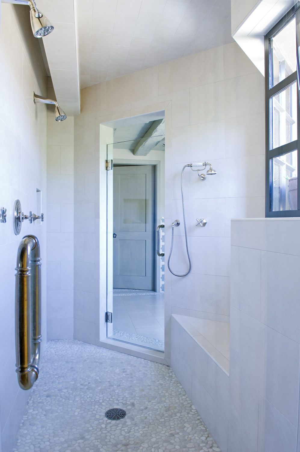 That is my kind of shower. Double Entrance to Shower | Cathy Kincaid ...