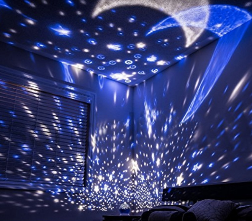 Features Starry Sky Night Light Projector Fill Your Room With Stars And Moonlight So That You F Starry Night Light Star Night Light Night Light Projector