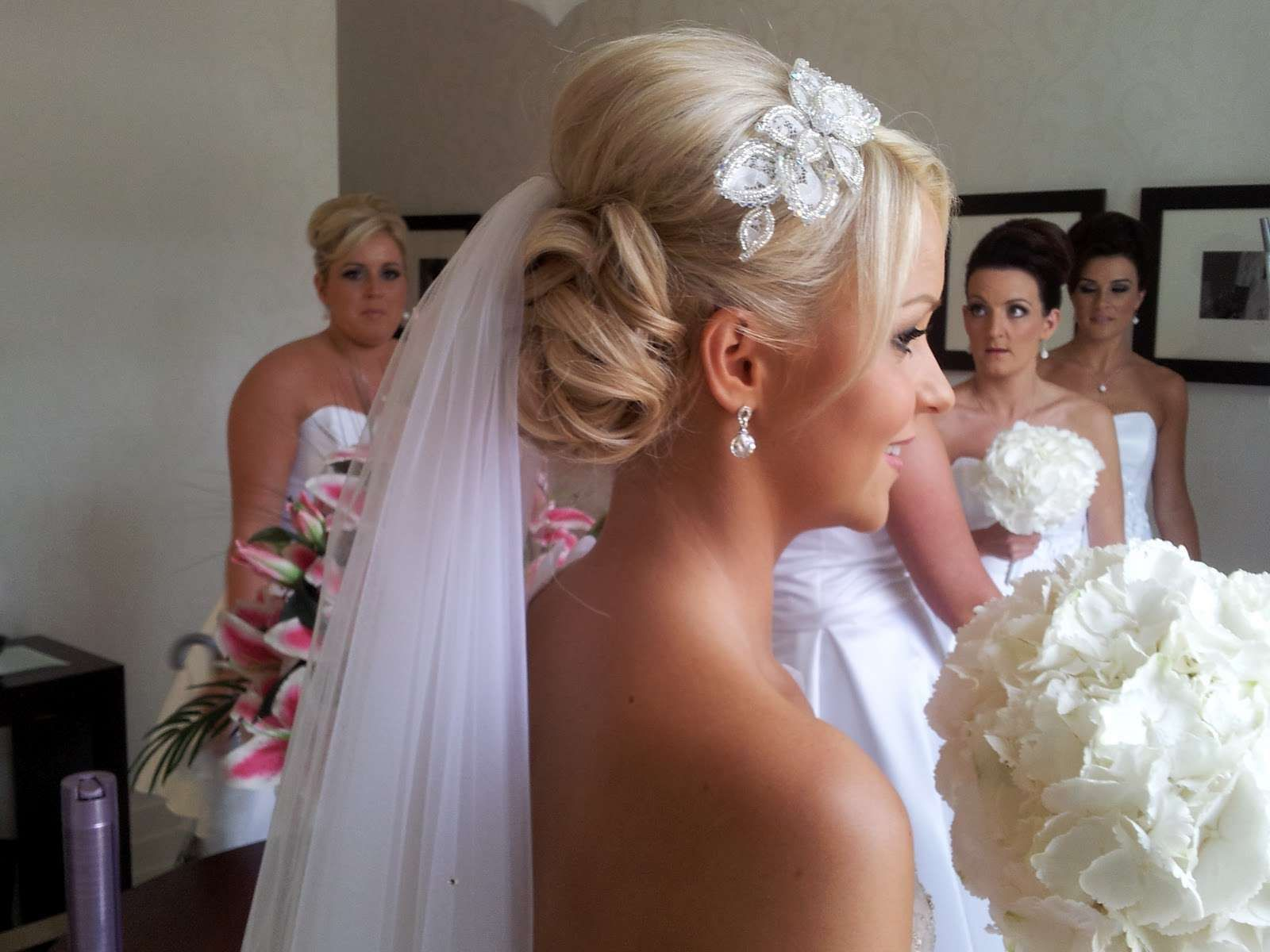 hair style with a veil |  hairstyles 2014 blonde wedding