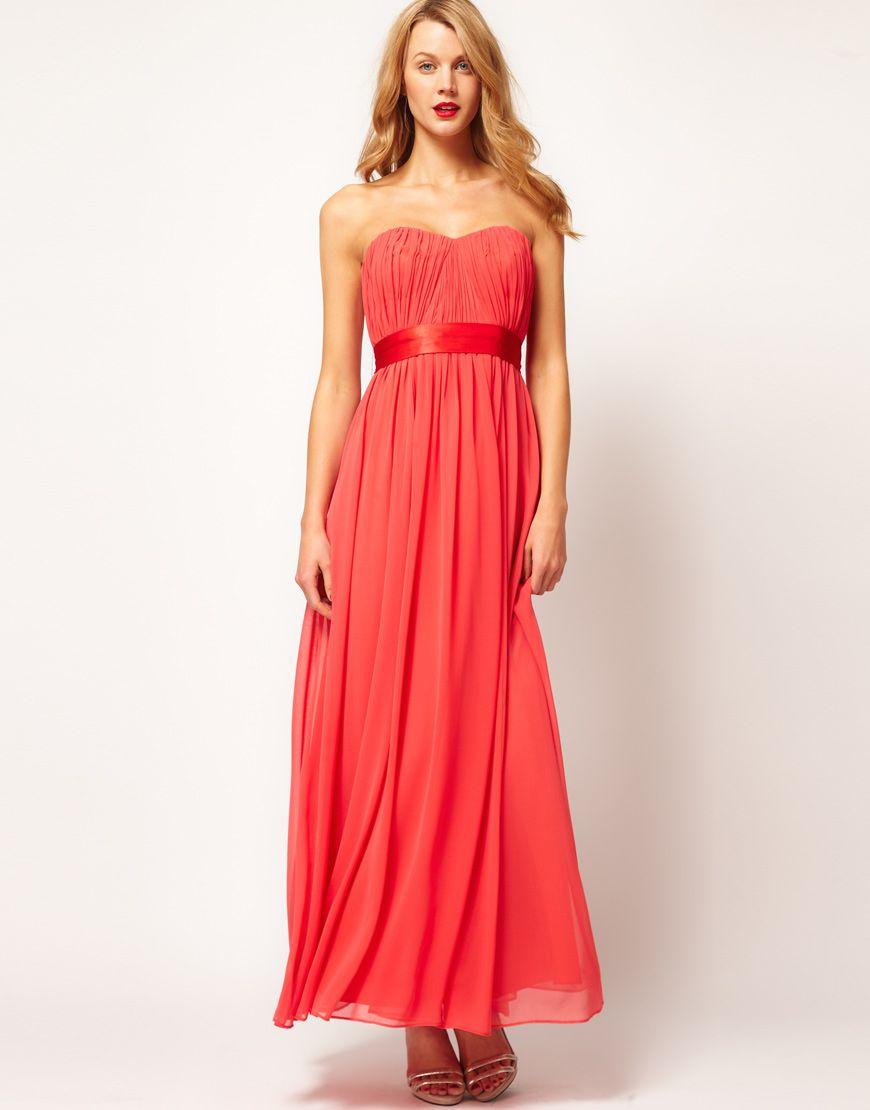 sweetheart chiffon maxi dress sadress