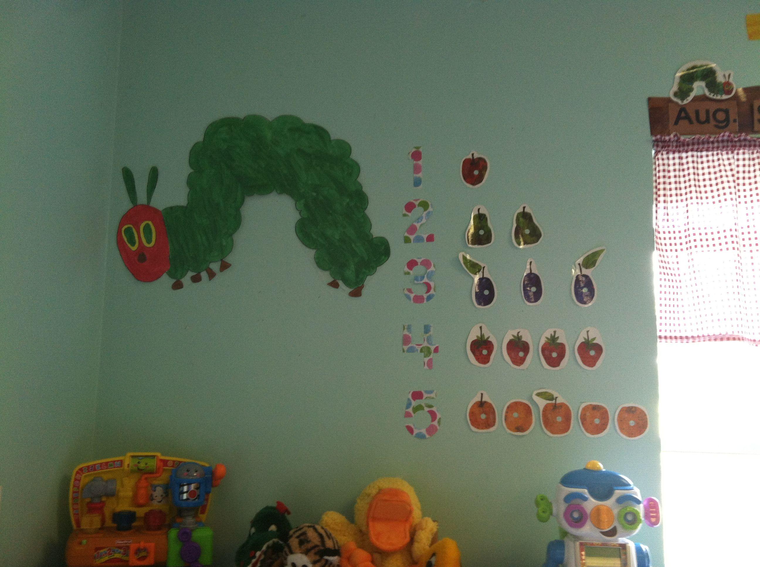 Very Hungry Caterpillar Number Display In Preschool Classroom Part 88