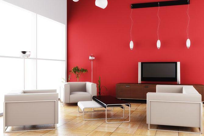 Colores para pintar una sala de estar en dos tonos para - Pinturas modernas para sala ...