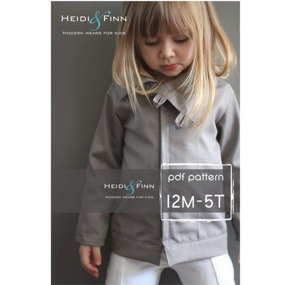 What a perfect coat for your little trendsetter! This pattern is for the Urban Weekender coat. The coat features a fitted body and arm, asymmetrical