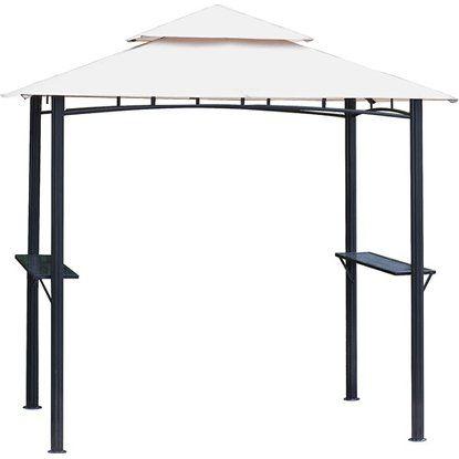 Tepro Grillpavillon mit Doppeldach 246 cm x 154 cm Beige Beige - edelstahl outdoor küche