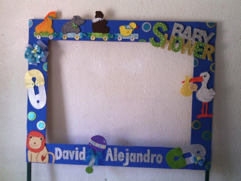Marco para fotos baby shower decoraci n de fiestas for Decoracion marcos fotos