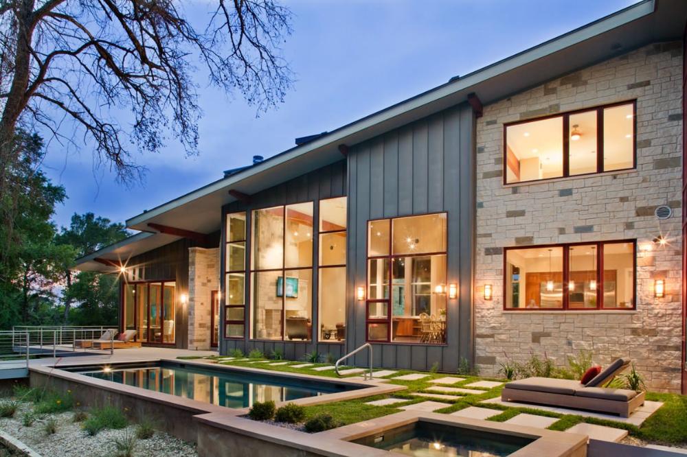 Mackey Ranch Contemporary Exterior Austin by LaRue Architects