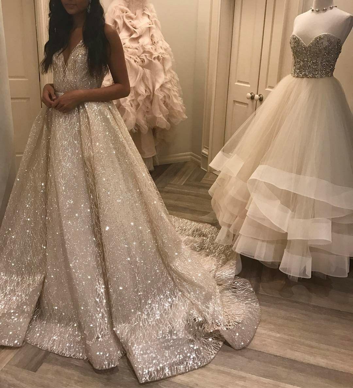 Lazaro Style 3662 Spring 2017 Ball Gowns Wedding Sparkle Wedding Dress Cheap Wedding Dress