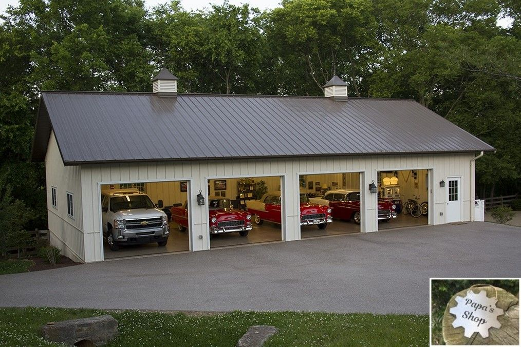 Big And Modern Garage Shops Diy Plans And Layout Garageshop Workshop Metal Garage Buildings Hobby Garage Garage Decor
