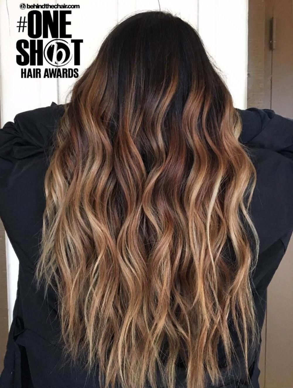 60 Looks With Caramel Highlights On Brown And Dark Brown Hair Hair Color Caramel Caramel Blonde Hair Black Hair Ombre