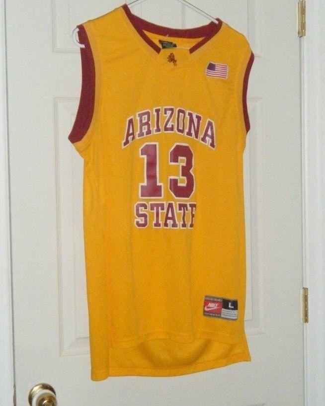d66ccd337 ... cheap james harden 13 arizona state university basketball nike jersey  yellow lg used nike 16f32 953a7