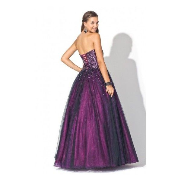 Ball Gown Sweetheart Sleeveless Tulle Prom Dresses With Rhinestone ...