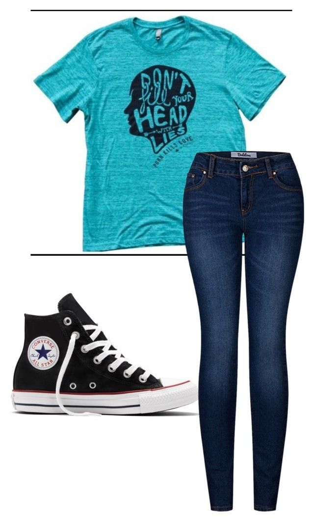 """""""Porn Kills Love"""" by fangirlmendes on Polyvore featuring Converse and 2LUV"""